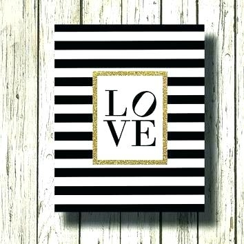 Black White And Gold Wall Art – Hugehood (View 9 of 25)