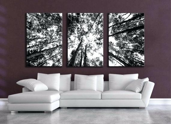 Black White Canvas Wall Art Art Grassland Ation Landscape Paint Regarding Black And White Large Canvas Wall Art (View 6 of 25)