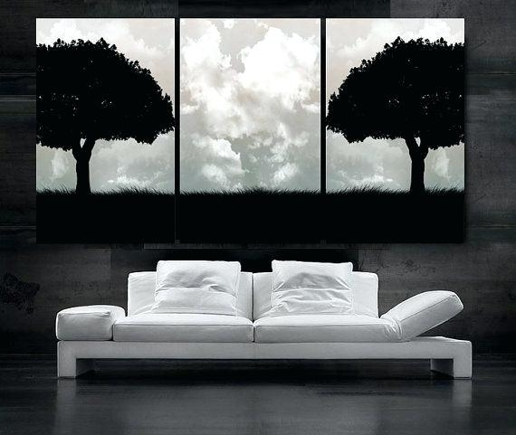 Black White Canvas Wall Art Large Canvas Prints Black And White Wall Regarding Black And White Large Canvas Wall Art (Image 8 of 25)