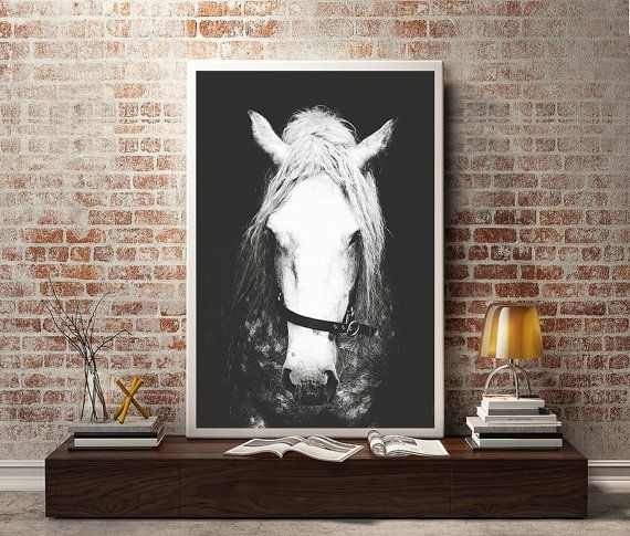 Black & White Horse Photography,horse Wall Decor,horse Wall Art Throughout Horses Wall Art (Image 2 of 20)