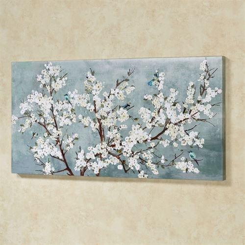 Blissful Branches Floral Canvas Wall Art For Floral Wall Art (View 18 of 20)
