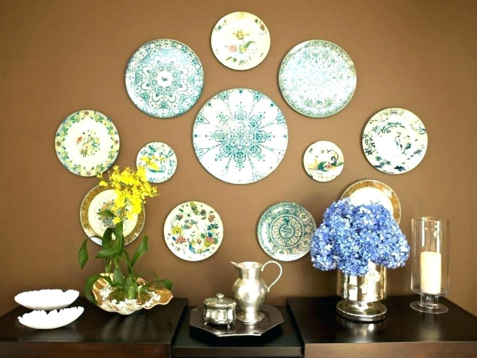 Blown Glass Plates Wholesale Colored Painted Home Decorative Art Within Glass Plate Wall Art (View 17 of 20)