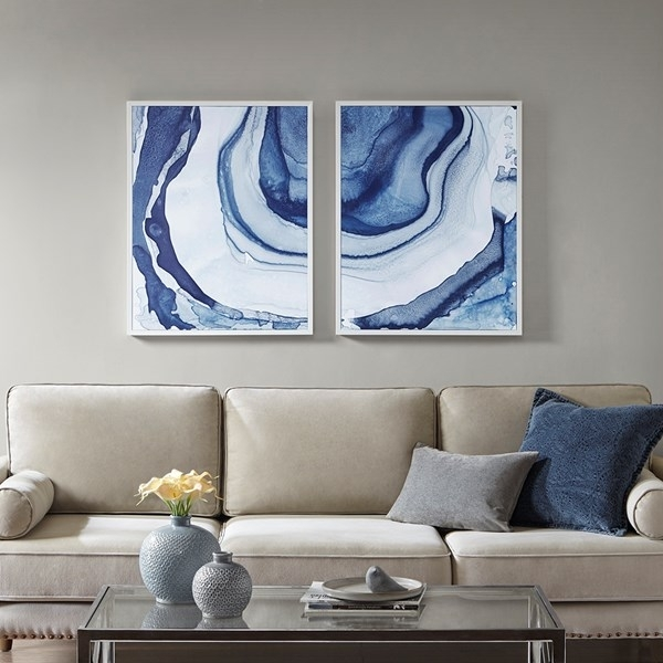 Blue Agate Goede Like Framed Wall Art Throughout Agate Wall Art (View 21 of 25)