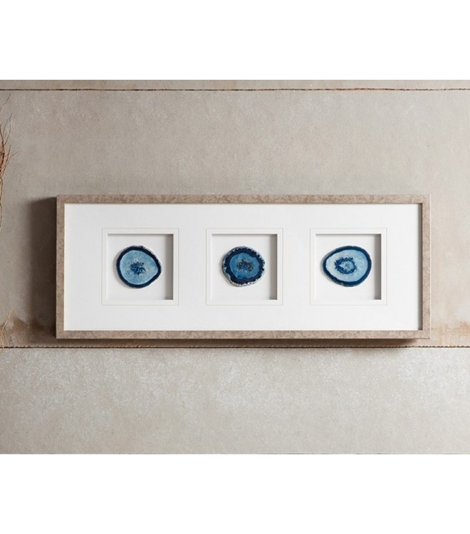 Blue Agate Stone Framed Wall Art Inside Agate Wall Art (View 16 of 25)