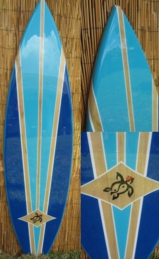 Blue Lagoon Decorative Surfboard Wall Art Decor Surfboard Decor Inside Surfboard Wall Art (Image 4 of 25)