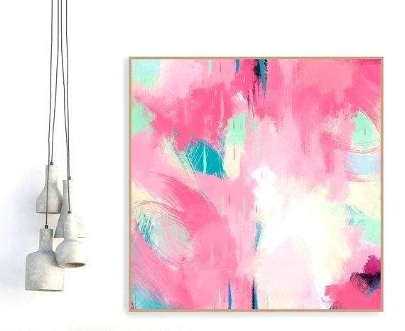 Blush Pink Wall Art Vibrant Inspiration Pink Wall Art Creative Ideas Within Pink Wall Art (Image 7 of 25)