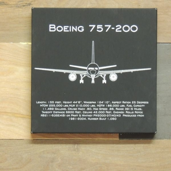 Boeing 757 Aviation Wall Art, B 757 Leather Wall Art Pertaining To Aviation Wall Art (Image 14 of 25)