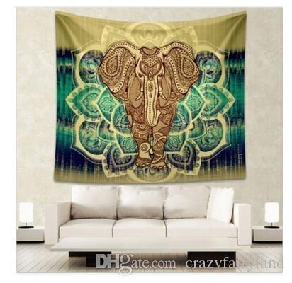 Bohemian Wall Art Decorative Hanging Tapestry Hippy Mandala Elephant In Bohemian Wall Art (Image 6 of 25)