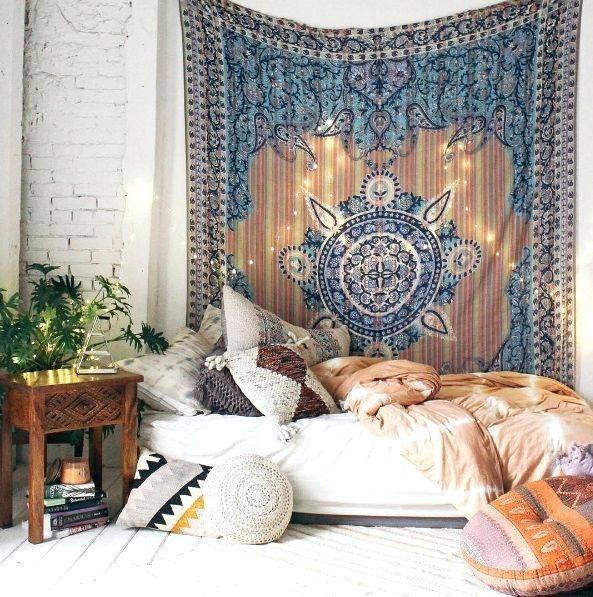 Boho Room Decor Best Bohemian Bedrooms Ideas On Bohemian Room Room Inside Bohemian Wall Art (Image 9 of 25)