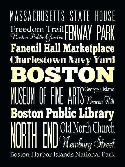 Boston Wall Decor – Whatnerve regarding Boston Wall Art