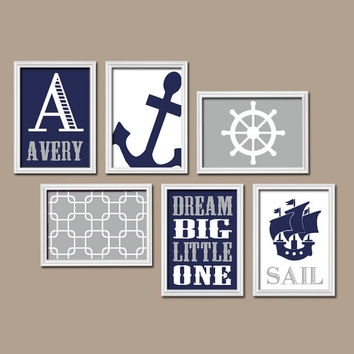 Boy Nautical Wall Art Canvas Or Prints From Trm Design | Wall Art Throughout Nautical Wall Art (Image 1 of 10)