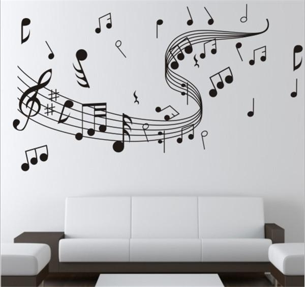 Brand New Diy Wallpaper Music Note Wall Stickers For Creative Wall Within Music Wall Art (View 2 of 10)