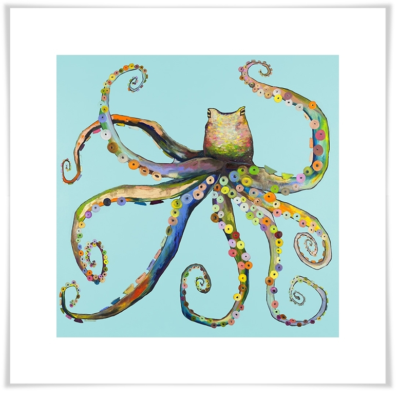 Bright Octopus, Beach & Ocean Canvas Wall Art | Greenbox In Octopus Wall Art (View 11 of 20)