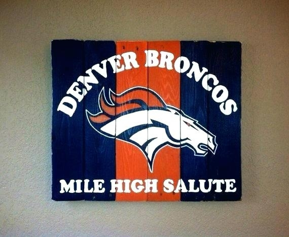 Broncos Wall Art Broncos Wall Art Broncos Mile High Salute Wall Art With Broncos Wall Art (Image 6 of 20)