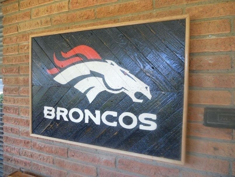 Broncos Wall Art – Hanihaniclub Regarding Broncos Wall Art (Image 5 of 20)