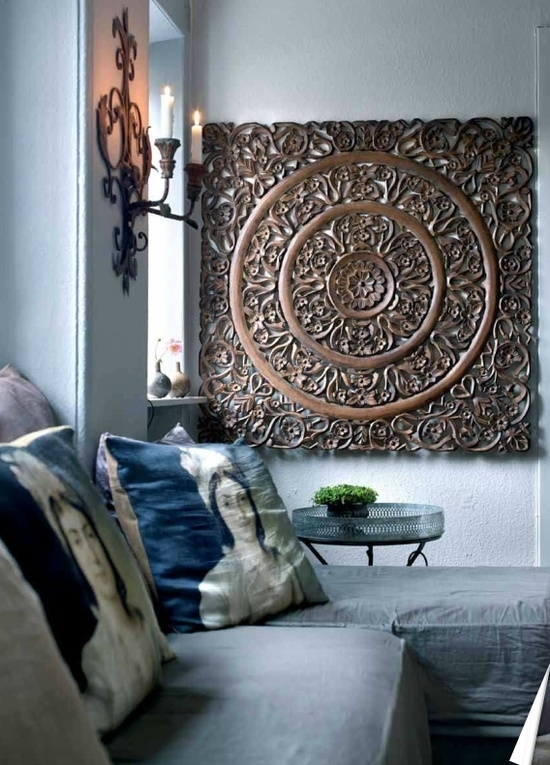 Brown Mandala Wall Art : Andrews Living Arts – How To Arrange Inside Mandala Wall Art (Image 2 of 25)