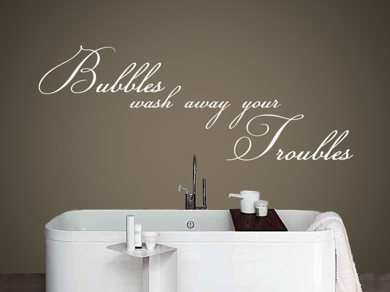 Bubbles Bathroom Wall Art – Vinyl Decal – Lettering Direct Inside Bathroom Wall Art (Image 5 of 10)
