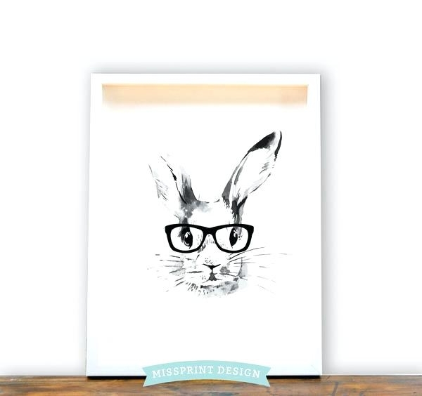 Bunny Wall Art Awesome Inspiring Bunny Wall Art Dreaded Fearsome Pertaining To Bunny Wall Art (View 12 of 20)
