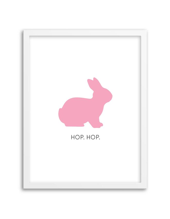 Bunny Wall Art – Chicfetti Pertaining To Printable Wall Art (Image 10 of 20)