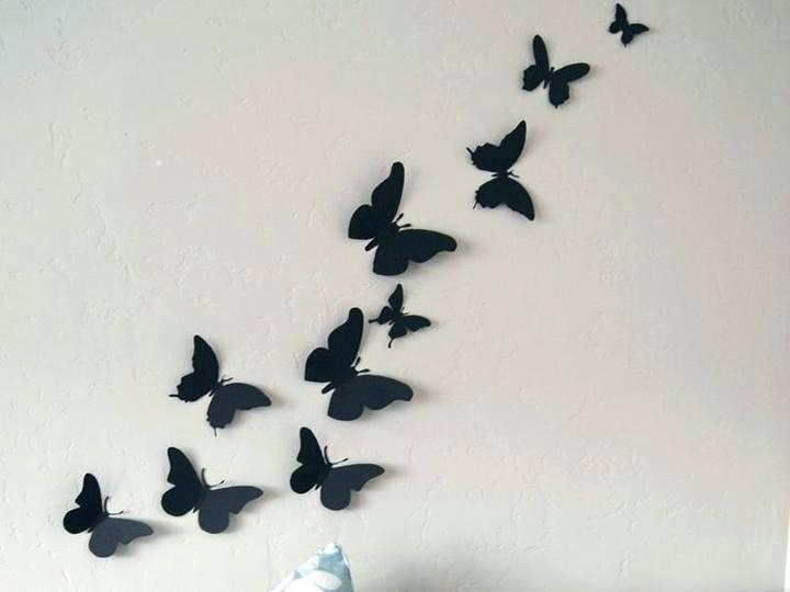 Butterfly Wall Art Decor – Kindundjob Pertaining To Butterfly Wall Art (Image 5 of 10)
