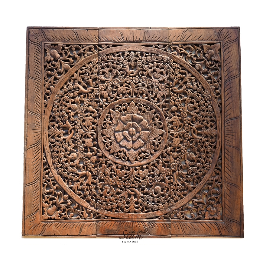 Buy Balinese Antique Wood Carving Wall Art Panel Online With Regard To Wood Carved Wall Art (Image 3 of 25)