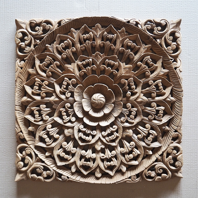 Buy Balinese Hand Carved Wood Wall Art Panel Online Within Carved Wood Wall Art (View 5 of 10)