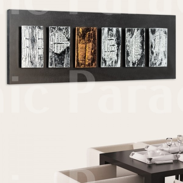 Buy Black And Chrome Ephorn Gloss Modern Wall Art Inside Modern Wall Art (View 2 of 10)