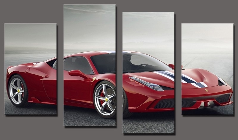 Buy Car Posters, Car Canvas Prints And Give Your Home A New Look Inside Car Canvas Wall Art (View 8 of 25)