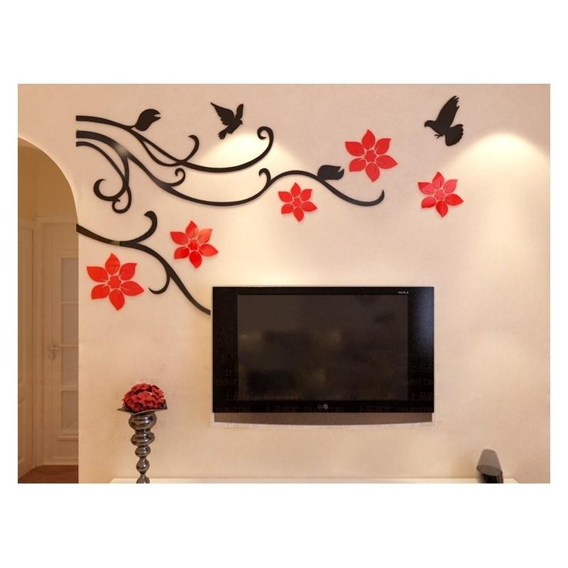 Buy Flower Vine Corner Bail Acrylic Wall Art At | Elifor (Image 8 of 25)