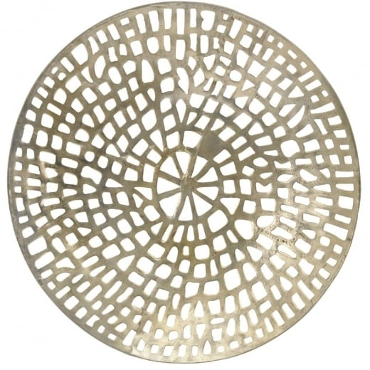 Buy Gold Coral Design Round Wall Plaque | Wall Art | Wall Plaque Throughout Round Wall Art (Image 3 of 25)