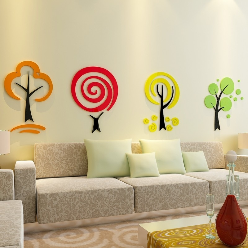 Buy Kinder Trees Acrylic Wall Art At | Elifor (Image 9 of 25)