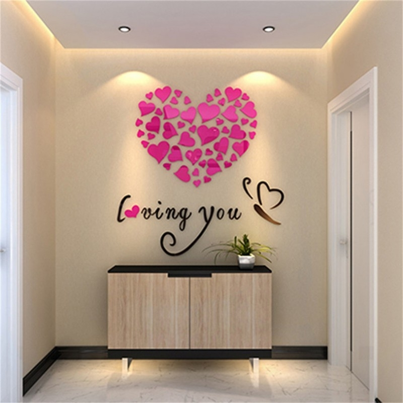 Buy Loving You Acrylic Wall Art At   Elifor (Image 3 of 10)