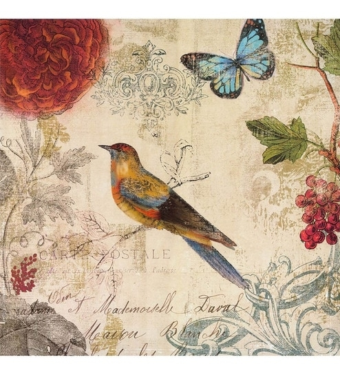 Buy Multicolor Canvas 24 X 24 Inch Bird Frame Framed Art Print Regarding Bird Framed Canvas Wall Art (Image 9 of 25)