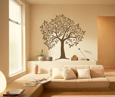Caacfafaa Tree Wall Decals Yellow Walls Pic Photo Peel And Stick In Stick On Wall Art (Image 4 of 20)