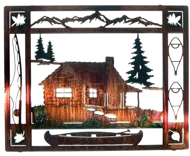 Cabin Wall Decor Rustic Metal Wall Decor Wall Art Designs Rustic Within Rustic Metal Wall Art (Image 2 of 25)