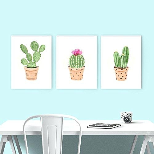 Cactus Canvas Wall Decor (Image 4 of 20)