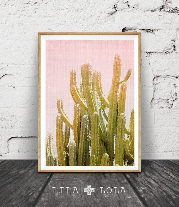 Cactus Wall Art Print, Desert Cactus Photo, South Western Decor Pertaining To Arizona Wall Art (View 24 of 25)