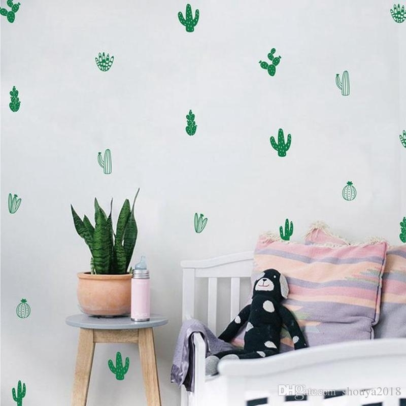 Cactus Wall Decals Woodland Tribal Cactus Wall Stickers For Kids For Cactus Wall Art (Image 8 of 20)