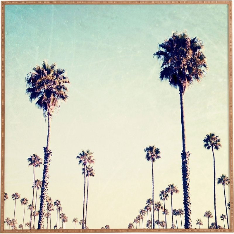 California Palm Trees Framed Wall Art & Reviews | Joss & Main In California Wall Art (View 18 of 20)