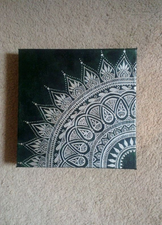 Canvas Art | //doodles\ | Pinterest | Henna Canvas, Hennas And Canvases Pertaining To Henna Wall Art (Image 9 of 25)