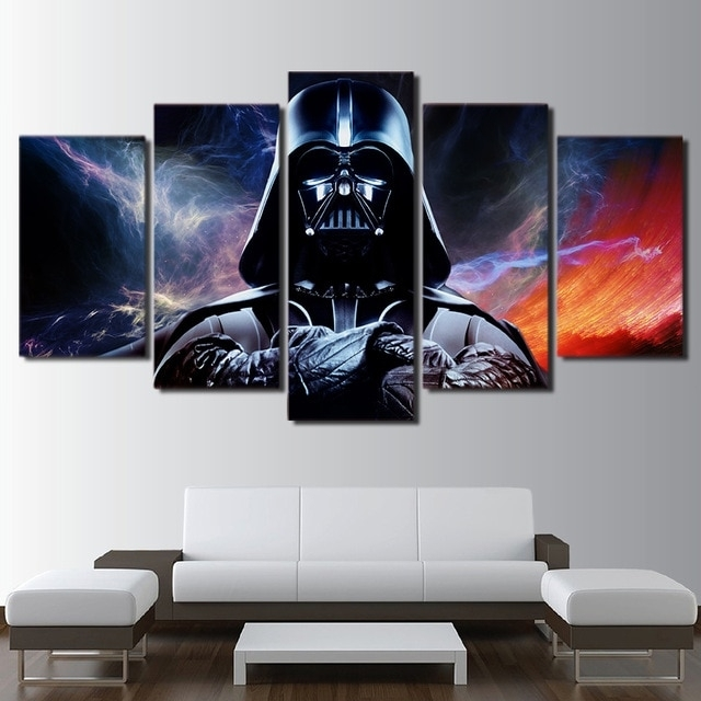 Canvas Hd Prints Posters Home Wall Art Framework 5 Pieces Star Wars In Star Wars Wall Art (Image 2 of 10)