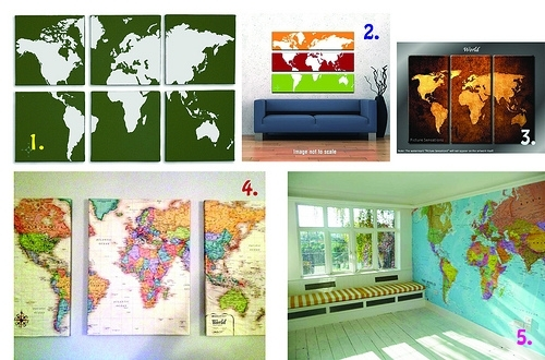 Canvas Map Wall Art – Just Two Crafty Sistersjust Two Crafty Sisters With Regard To Diy World Map Wall Art (Image 5 of 25)