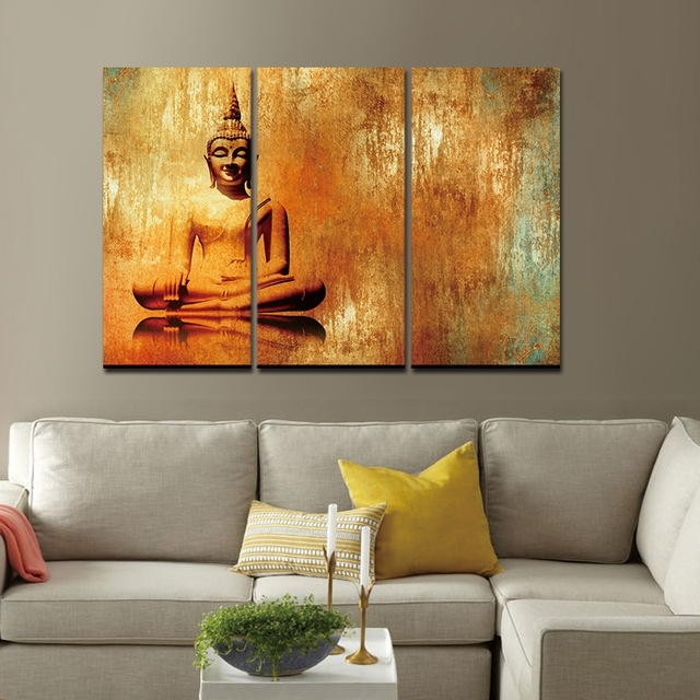 Canvas Painting Wall Art Picture Decor For Living Room Buddha Zen Inside Living Room Painting Wall Art (View 5 of 25)