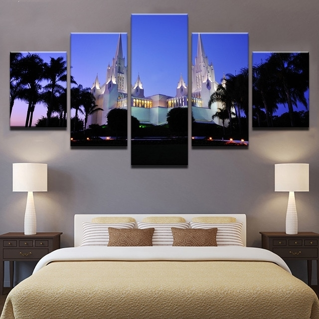 Canvas Paintings For Living Room Wall Art Framework 5 Pieces San In California Wall Art (View 14 of 20)
