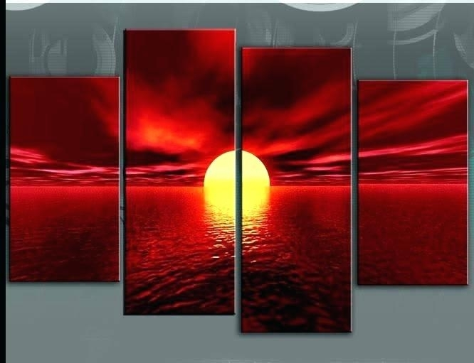 Canvas Wall Art Red The Fortune Canvas Wall Art Red, Black White And Inside Red Wall Art (View 7 of 10)
