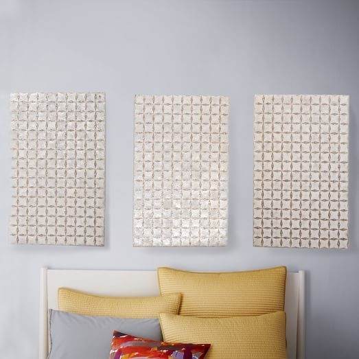 "Capiz Wall Art – Triptych. 32""w X (View 8 of 25)"