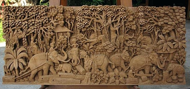 Carved Wall Decor Carved Wood Wall Decor Best Decorative Wall Panels Throughout Wood Carved Wall Art (Image 7 of 25)