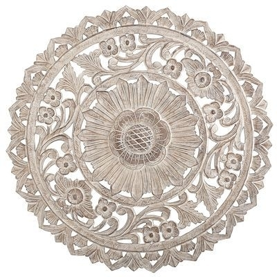 Carved Whitewashed Round Wall Decor | Wall Art | Pinterest | Wall In Round Wall Art (Image 4 of 25)