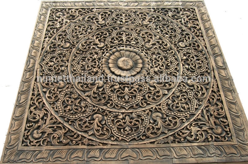 Carved Wood Panels Wall Art – Buy Wood Carving,teak Wood Carving Throughout Wood Carved Wall Art (Image 9 of 25)