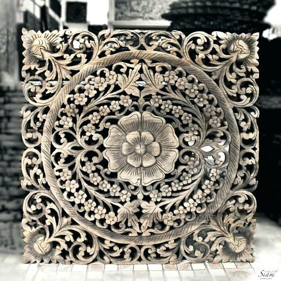 Carved Wood Wall Art Carved Panel Carved Wood Wall Panel Decorative Inside Wood Carved Wall Art (Image 10 of 25)